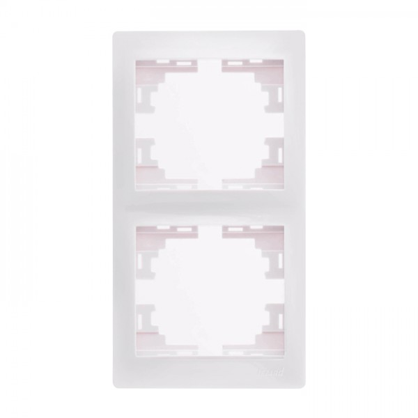 Рамка 2-а вертикальна б/вст, білий, Mira фото, цена
