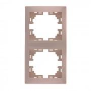 Рамки для розеток Рамка 2-ая вертикальная б/вст, крем, Mira фото, цена