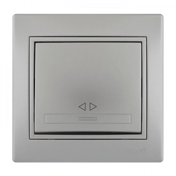 Выключатель промежуточный, серый металлик, Mira фото, цена