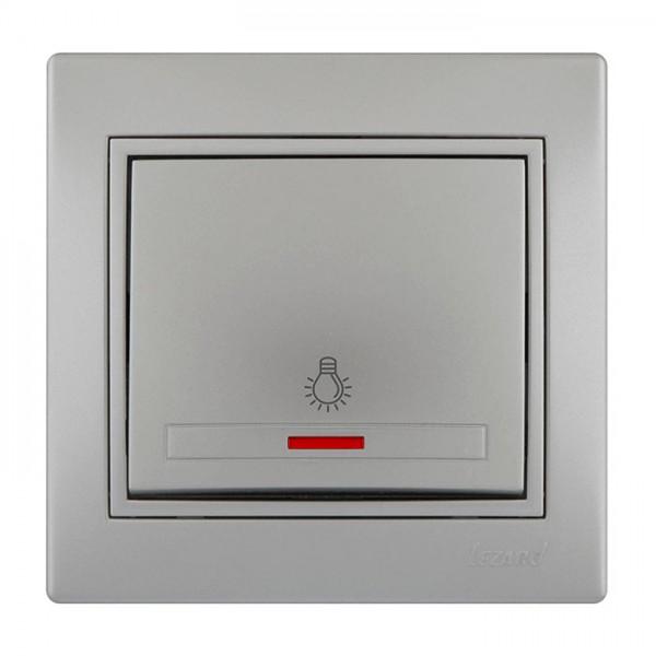 Кнопка таймера с подсветкой, серый металлик, Mira фото, цена