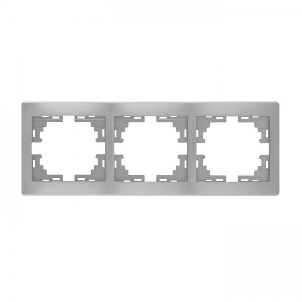 Рамка 3-а горизонтальна б/вст, сірий металік, Mira фото, цена