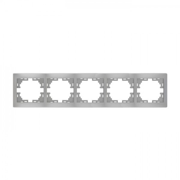 Рамка 5-ая горизонтальная б/вст, серый металлик, Mira фото, цена