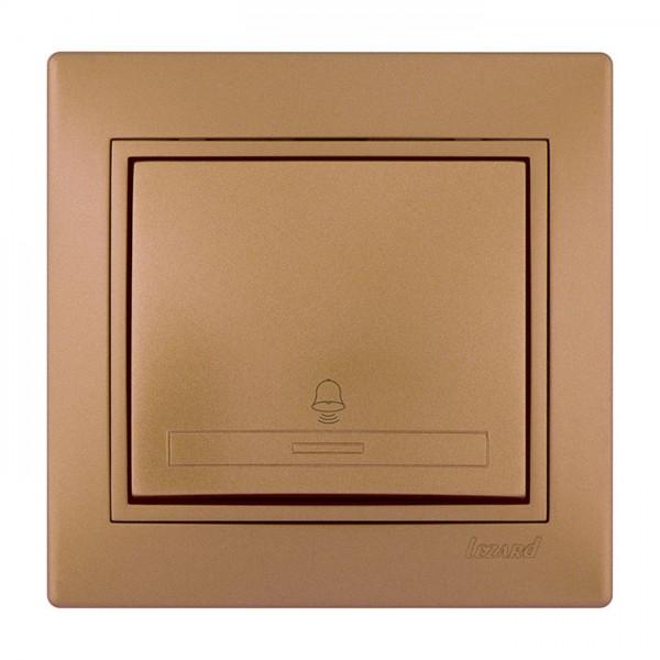 Кнопка звонка, матовое золото металлик, Mira фото, цена
