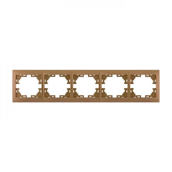 Рамка 5-а горизонтальна б/вст, матове золото металік, Mira фото, цена