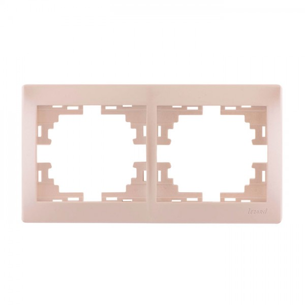 Рамка 2-а горизонтальна б/вст, перлинно-білий металік, Mira фото, цена