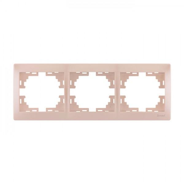 Рамка 3-а горизонтальна б/вст, перлинно-білий металік, Mira фото, цена