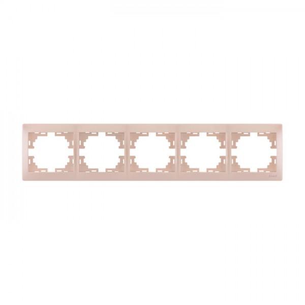 Рамка 5-ая горизонтальная б/вст, жемчужно-белый металлик, Mira фото, цена