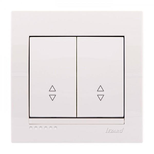 Выключатель проходной двойной, белый, Deriy фото, цена
