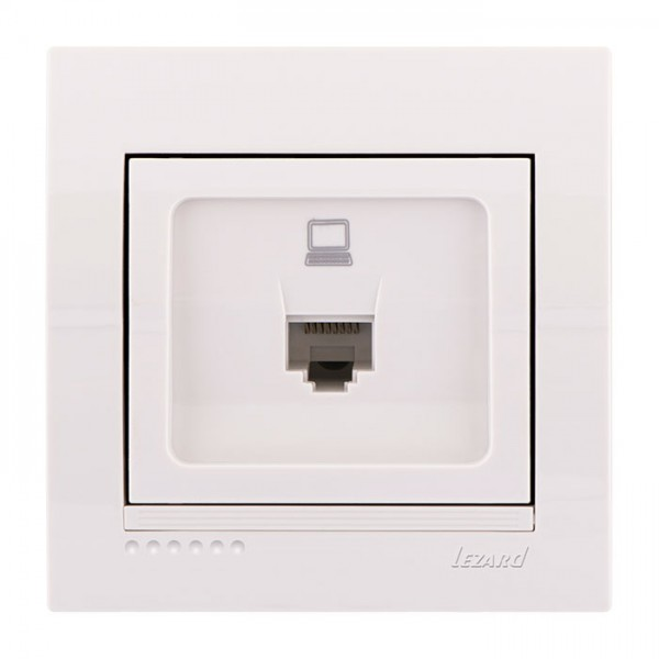 Розетка комп'ютерна, біла, Deriy фото, цена