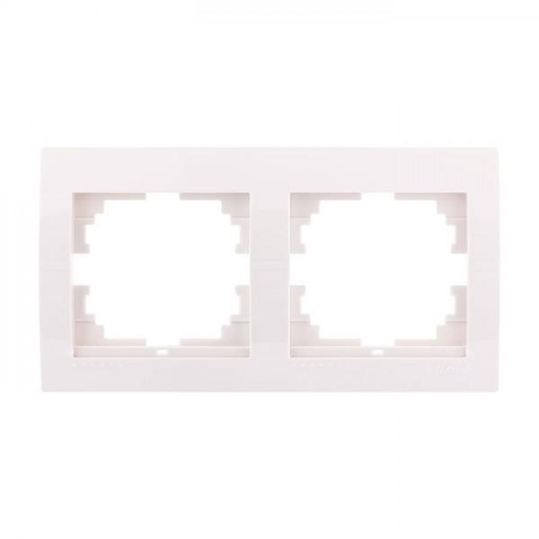 Рамка 2-а горизонтальна б/вст, білий, Deriy фото, цена