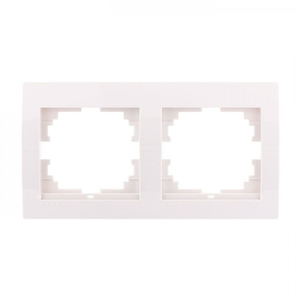 Рамка 2-ая горизонтальная б/вст, белый, Deriy фото, цена