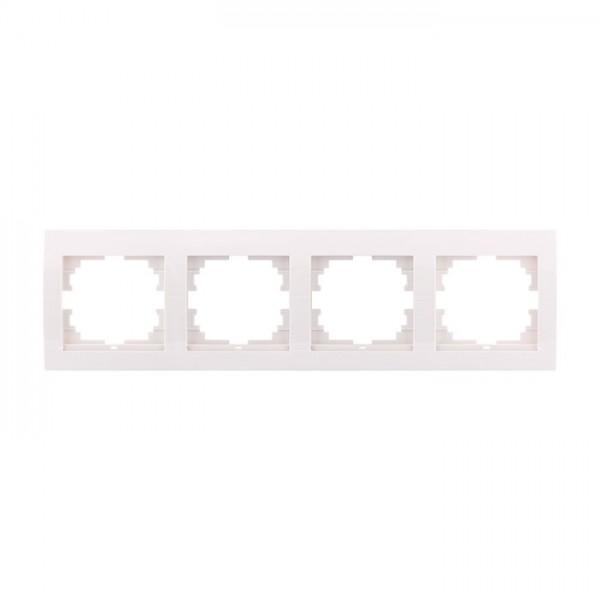 Рамка 4-ая горизонтальная б/вст, белый, Deriy фото, цена