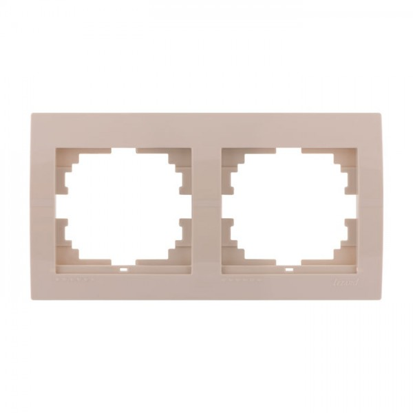 Рамка 2-ая горизонтальная б/вст, крем, Deriy фото, цена