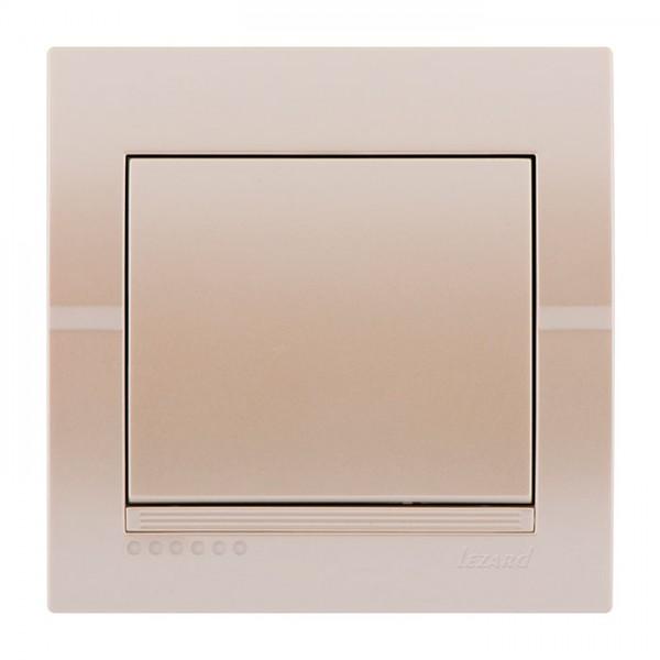 Вимикач, перлинно-білий металік, Deriy фото, цена