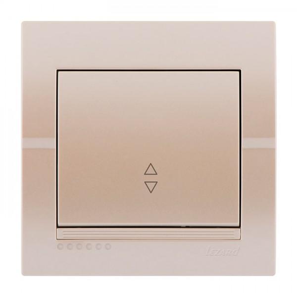 Выключатель проходной, жемчужно-белый металлик, Deriy фото, цена