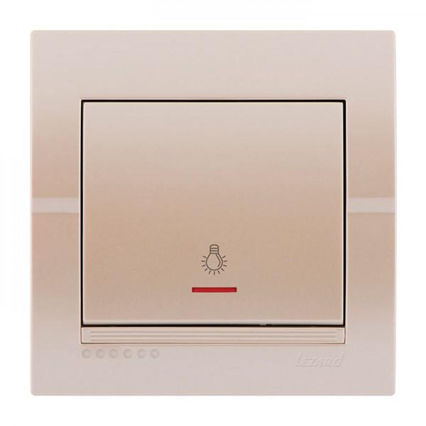 Кнопка таймера з підсвічуванням, перлинно-білий металік, Deriy фото, цена