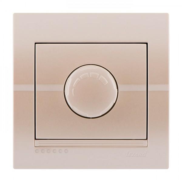 Диммер 500 Вт с фильтром и предохранителем, жемчужно-белый металлик, Deriy фото, цена