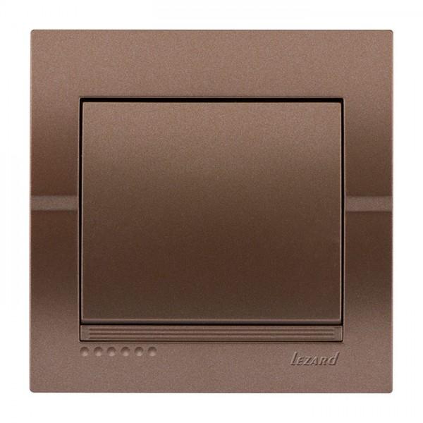 Вимикач, світло-коричневий металік, Deriy фото, цена