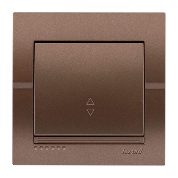 Выключатель проходной, светло-коричневый металлик, Deriy фото, цена