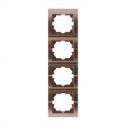 Рамки для розеток Рамка 4-ая вертикальная б/вст, светло-коричневый металлик, Deriy фото, цена
