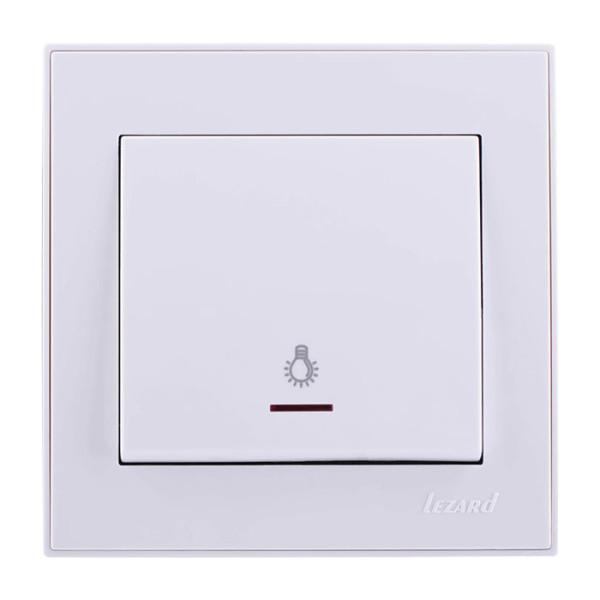 Кнопка таймера с подсветкой белый Rain фото, цена