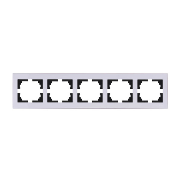 Рамка 5-ая горизонтальная б/вст белый Rain фото, цена