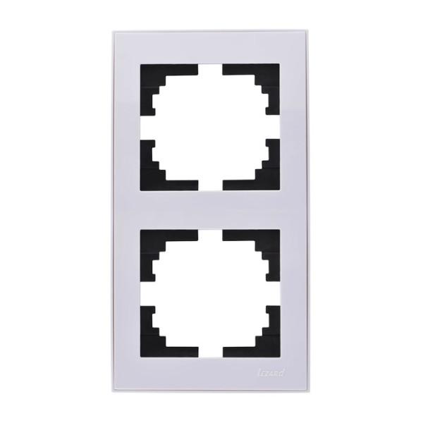 Рамка 2-а вертикальна б/вст білий Rain фото, цена