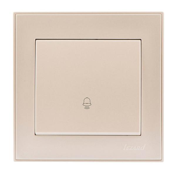 Кнопка звонка жемчужно-белый Rain фото, цена