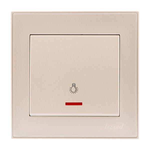 Кнопка таймера с подсветкой жемчужно-белый Rain фото, цена