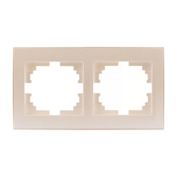 Рамка 2-а горизонтальна б/вст перлинно-білий Rain фото, цена