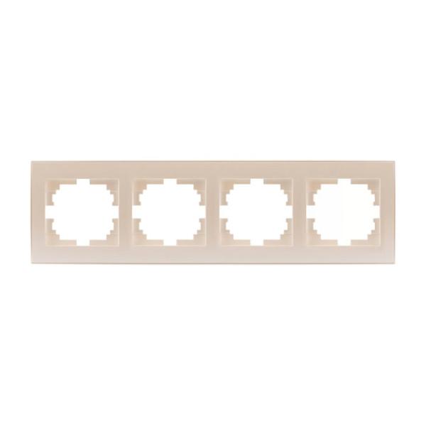 Рамка 4-а горизонтальна б/вст перлинно-білий Rain фото, цена