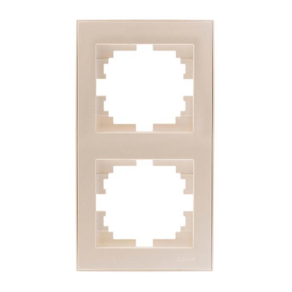 Рамка 2-ая вертикальная б/вст жемчужно-белый  Rain фото, цена