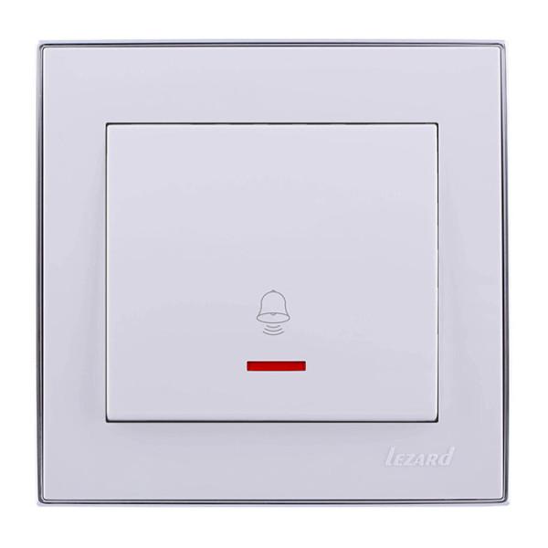 Кнопка дзвінка з підсвічуванням білий/хром Rain фото, цена