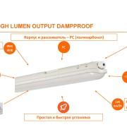Светодиодное освещение (LED) Светильник влагозащищенный LEDVANCE ECO DAMP PROOF HLO фото, цена
